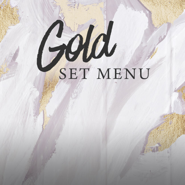 Gold set menu at The Fishery Inn