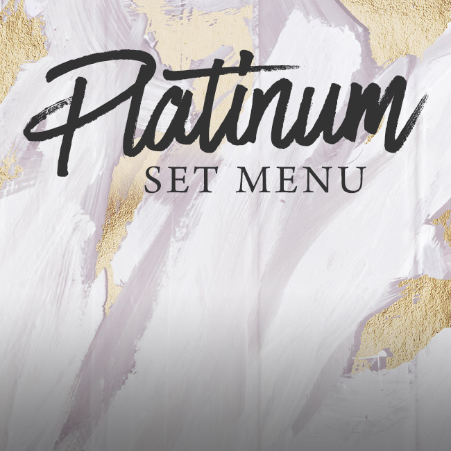 Platinum set menu at The Fishery Inn